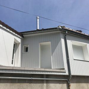 façade avec isolation thermique par l'extérieur