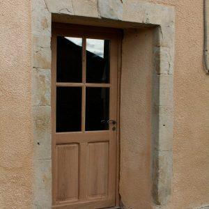 Menuiseries en Ariège porte d'entrée