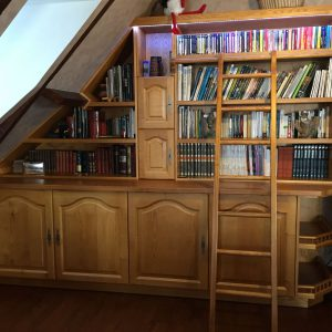 Menuiseries en Ariège meuble bibliothèque bis