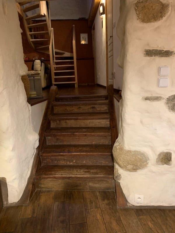 ancien escalier bois - Avant travaux
